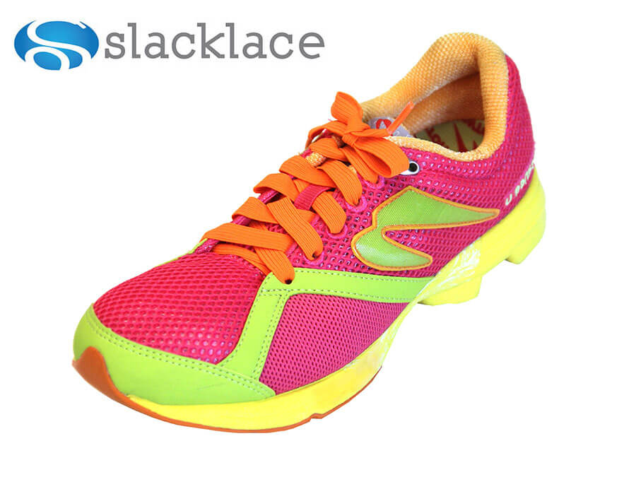 Flat elastic laces in bright colors - Slacklace