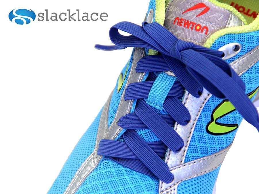 Blue laces that stretch